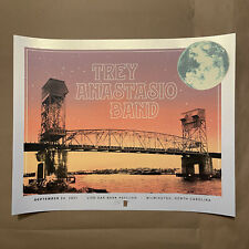 Trey Anastasio 9/24 2021 Wilmington NC Tom Shaw SUNSET VARIANT Stardream Poster