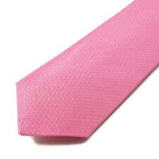 New $230 ISAIA 7-Fold Pink Subtle Woven Jacquard Pattern Silk Tie