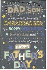 Tarjeta De Día Del Padre Para Papá de su hijo. tarjeta pop-up.