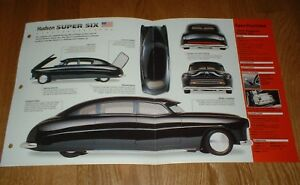 1949 HUDSON SUPER SIX ORIGINAL IMP BROCHURE SPECS INFO 48 49 50 51 54 CUSTOM