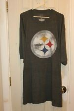 gray Pittsburgh Steelers distressed logo graphic t-shirt - adult XXXXLT / 4XLT