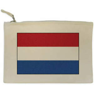 'The Netherlands Flag' Canvas Clutch Bag / Accessory Case (CL00015824)