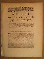 """ARRET 1716 : CONDAMNATION DE """"LA PRINCESSE"""" DE CAEN commerce billets royaux."""