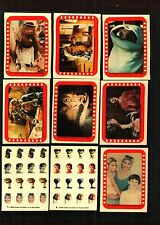 1982 Topps E.T. Extra Terrestrial Set of 9 Stickers Excellent Condition