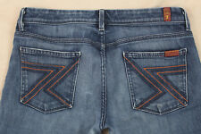 7 For All Mankind Boot Cut Size 30 Medium Wash Stretch Jeans Inseam 32