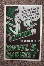 The Devils Harvest Lobby Card Movie Poster Marijuana Propaganda1942