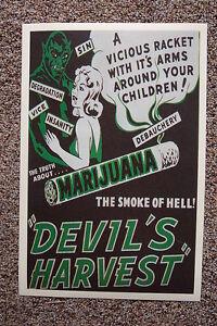The Devils Harvest Lobby Card Movie Poster Marijuana Propaganda1942