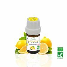 Huile Essentielle BIO Citron 5ml. Chémotypée, ABLabel, Ecocert Bio 100 % Pure.
