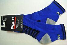 Polo Ralph Lauren Men's Quarter Sport Athletic Socks One Size Orange Lime Green