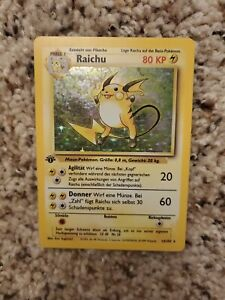 1999 POKEMON Card GERMAN BASE Set 1st Edition RAICHU #14/102