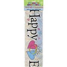 Happy Engagement Holographic 12ft Party Banner Parties Banners Decorations