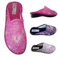 Pantofole ciabatte pianelle da donna per ragazza casa chiuse comode leggere rosa