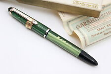 RODUR 401 Rodursal GERMANY-Fountain Pen-GREEN Arco CELLULOID-PISTON-50's-NEW-BOX
