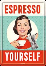 Nostalgic Art Carte Postale en Tôle / Métal Espresso Yourself 10 X 14 CM