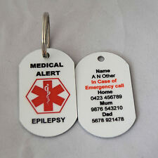 Personalised Medical Alert Keyring for Epilepsy
