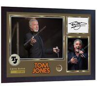Tom Jones signed print photo autographed poster Music Framed