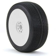 AKA Racing 1:8 Buggy Zipps (Soft) EVO Wheel Mounted (White) (2) - AKA14020SRW