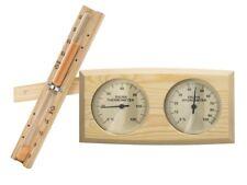 "Sauna-Set Basic ""S"" Sanduhr & Klimamesser Thermometer-Hygrometer-Kombi Holz"