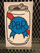 PBR ART Pabst Blue Ribbon Beer ~ CAN ART ~ Sticker Tap Handle Artist
