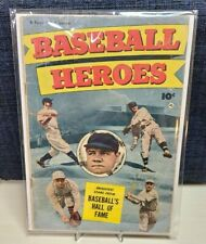 Baseball Heroes #nn (#1) Scarce Babe Ruth Photo Cover Fawcett Comic 1952