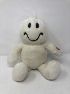 """Dan Dee White Smiley Face Tickle Tickle Wiggle Wiggle 10"""" Plush Happy Holidays"""