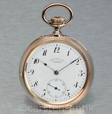 Union Glashütte NEAR DRESDEN 1895 Quality 1A 18 K Gold Pocket Watch