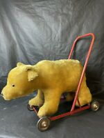 Antique 1920's/30's Bear On Wheels Ride On Bear. Excellent Condition