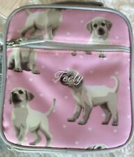 New Pottery Barn Kids Pink With Cute Dogs Classic Lunch Bag Box Feely Pbt