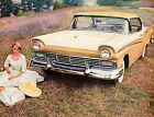 Vintage Original 1957 FORD FAIRLANE 500 TOWN VICTORIA MAGAZINE AD- 10