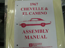 1967 67 CHEVELLE, EL CAMINO (ALL MODELS) ASSEMBLY MANUAL