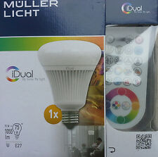 Müller-Licht 16W LED E27 iDual Starter my home my light RGB +weiß Fernbedienung