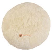 Luxe Peau de mouton oreillers sol blanc NATURE Crème Coussin siège 56 x 30 cm