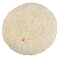 ESCLUSIVO pelle di pecora Cuscino da Pavimento Bianco Natura Crema 56 x 30 cm