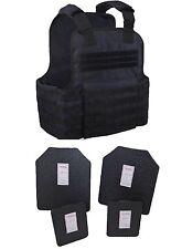 Tactical Scorpion Body Armor Muircat 11x14 Carrier + Level IIIA Plates   Black