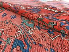 Auth: Antique Turkmen Bukhara Ersari Tribes Main Tent Rug Red Wool Beauty 7x9 NR