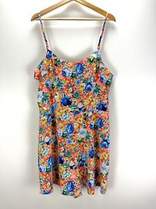 Womens TOPSHOP Tall Floral Summer Playsuit - Size 16