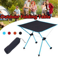 Portable Aluminum Folding Table Holder Camping Outdoor Garden Desk Anti-slip AU
