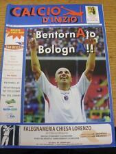14/09/2008 Bologna V ATALANTA (CALCIO d'inizio emissione). articolo in ottime CONDIT