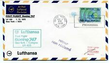 FFC 1970 Lufthansa First Flight Boeing 747 LH 409 New York USA Frankfurt