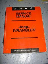 2000 JEEP TJ SERVICE MANUAL SHOP REPAIR WORKSHOP WRANGLER