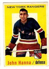1X JOHN HANNA 1959-1960 Topps #32 EXNM 59-60 NY Rangers