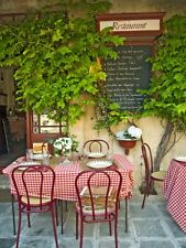 Bistro in Provence-Wall Mural-6'wide by 8'high-New
