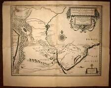 Carte géographique ancienne PARAGUAY RIO DE LA PLATA par Willem Blaeu 1640