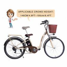 "SOHOO 36V350W10AH 26"" Electric Bicycle City EBike Mountion Bike (Color: Cream)"