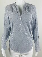 NWT $94 Michael Kors Women Size M Striped Long Sleeves Blouse Top Shirt