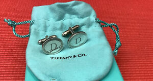 TIFFANY & CO. Sterling 925 Monogrammed Cufflinks D  Box