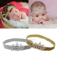 Newborn Baby Girls Rhinestone Princess Crown Tiara Hairband Headband Photo Props