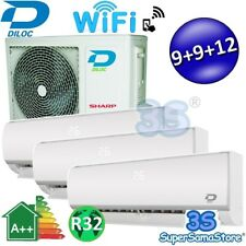 3S CLIMATIZZATORE TRIAL 3 SPLIT 9+9+12 DILOC FROZEN + WIFI COMPRESSORE SHARP A++
