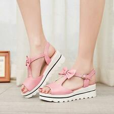 Lolita Womens Bow Slingbacks Strappy Sneakers Platform Sandals Shoes Open Toe