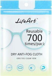 LIfeArt Anti-Fog Wipe STOP your Glasses Steaming Up When Wearing A Mask 1 Pack